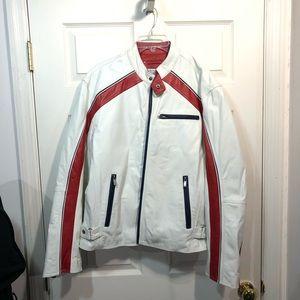 Wilson's leather moto jacket M. Julian L red white